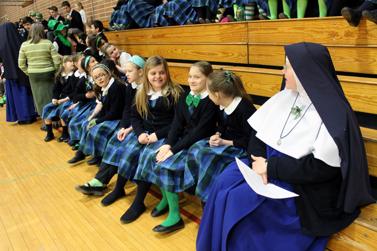 Children celebrate St. Patrick's Day