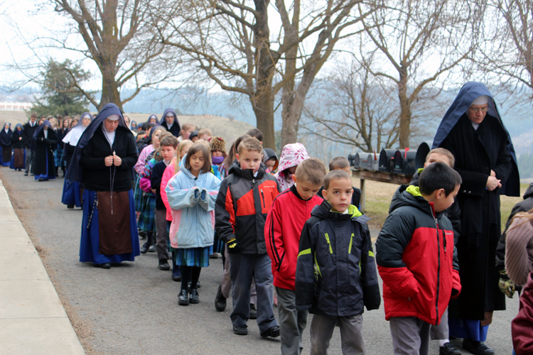 Our Lady of Lourdes procession